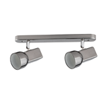 APPLIQUE PORTA LAMPADA 2 X E27 JIM SPOT SATINATO NICKEL 360MM