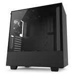 NZXT CASE H500i MID TOWER ATX MATTE BLACK, WINDOW, 7 SLOT ESPANSIONE 2,5/3,5, 2X120 FAN FRONT, 1X120 FAN TOP, 1X120 FAN REAR, CAM COMPATIBILITY WITH RGB CONTROLLER