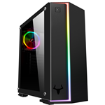 ITEK Case VERVE - Gaming Middle Tower, 2xUSB3, 12cm ARGB fan, Side Panel Temp Glass
